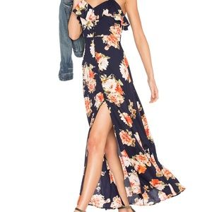 Band of Gypsies Floral Print Maxi Dress